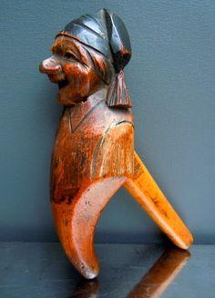 18th Century Carved Wood Figure Nutcracker