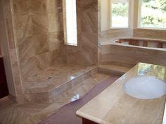 Santa Cruz bathroom tile by Central Coast Tile.  http://santacruzconstructionguild.us/keith-curry-central-coast-tile/