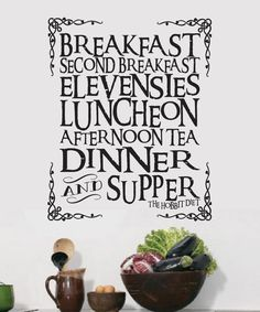 The Hobbit Tolkien V2 inspired meal wall decal Vinyl by JobstCo