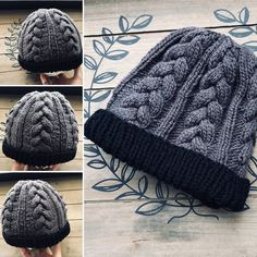 Men's cable knit hat by NellysKnitBoutique on Etsy Winter Knit Hats, Winter Hats For Men, Mens Winter, Cable Knit Hat, Knit Beanie Hat, Knit Hat For Men, Knit Or Crochet, Arm Warmers, Hand Knitting