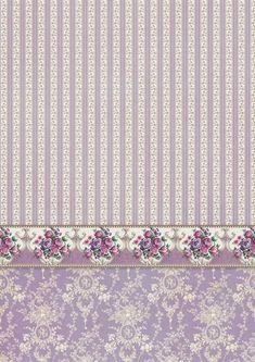 Doll House Wallpaper, Flower Wallpaper, Printable Scrapbook Paper, Printable Paper, Scrapbook Background, Paper Background, Victorian Dollhouse, Diy Dollhouse, Decoupage Vintage