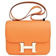 hermes black alligator constance bag- 23 cm with gold hardware