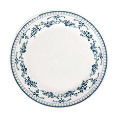 assiette plate et assiette dessert aux dessins bleus vaisselle bleu pinterest assiettes. Black Bedroom Furniture Sets. Home Design Ideas