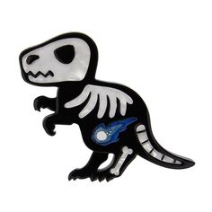 Erstwilder 'Dead-o-saurus Rex ' brooch. Sold out Halloween design from the Bone Brigade collection. Halloween Design, Halloween 2019, The A Team, T Rex, Ancient History, Minnie Mouse, Kitty, Hand Painted, Ebay