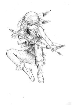 native boy american americans anime drawings simple drawing easy boys visit draw