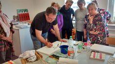 Kirschblüten als Motiv für die Aquarellmalerei | Frank Koebsch Im Aquarellkurs Kirschblüten auf Leinwand (c) Bernd Sturzrehm (2)
