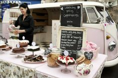 #Yorkshire #streetfood revolution. Cath McConaghy at her camper van #Lulabelle.