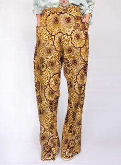 Vintage Batik wijde pantalon @ www.secondhandnew.nl
