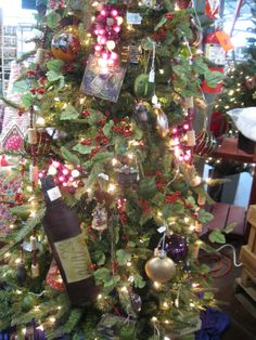 wine themed christmas trees google search christmas tree festival christmas tree themes holiday
