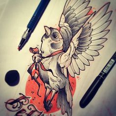 #tattoo #tattooart #tattooflash #sketch #bird #flight