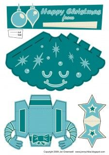 Christmas Tree Free Paper Toy Template  Cut Outs