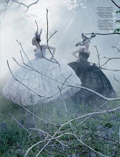 Tim Walker, a lot of his pictures are based on a fairytale.
