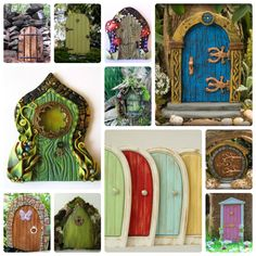 diy fairy doors and windows Fairy Garden Doors, Fairy Garden Houses, Fairy Doors, Diy Fairy Door, Gnome Garden, Fairy Village, Fairy Tree, Gnome House, Gnome Door