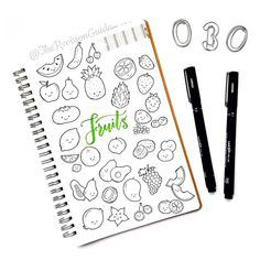 Day 30 of  #THE100DAYPROJECT - cakes and pastries doodle icons ©TheRevisionGuide Doodles and lettering from instagram.com/therevisionguide
