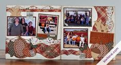 2 Page Fall Scrapbook Layout at Linder Farms