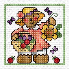 Lesley Teare Thoughts on Design Tiny Cross Stitch, Baby Cross Stitch Patterns, Cross Stitch Cards, Simple Cross Stitch, Cross Stitch Alphabet, Cross Stitch Embroidery, Pixel Crochet, Crochet Motif, Cross Stitch Freebies