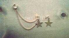 Gold Star Ear Cuff with BONUS Star Earring
