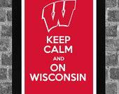 Keep Calm Wisconsin Badgers NCAA Print Art 11x17