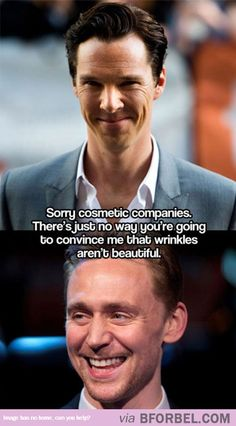 Benedict Cumberbatch And Tom Hiddleston Convincing Us That Wrinkles Are Pretty Great…
