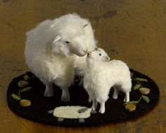 MOTHER SHEEP and BABY LAMB  They are so adorable!!!!!