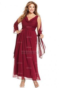 A-Line/Princess Cowl Floor-length Ankle-length Chiffon Mother of the Bride Dress - IZIDRESSES.com at IZIDRESSES.com