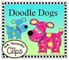 "Includes 10 colorful ""Doodle Dogs""Colors: pink, green, lt. blue, yellow, lavender, red, orange, purple, and blue.These are large images so they will remain crisp when re-sizing. Use for your products, printables, and bulletin boards.Commercial use welcome."
