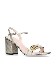 a7300208e35 Shop the Gucci Metallic Marmont Sandals 75 at Harrods. Shop online at  harrods.com