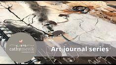 Art journal series - Art journaling in a lage mixed media art journal