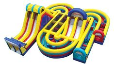 Backyard Inflatable Obstacle Course