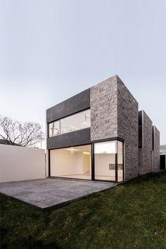 Aguazul 162 / Laboratorio de Arquitectura [mk] love the clean lines and facade with glass walls/windows.