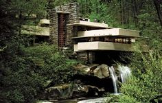 Falling Water by Frank Lloyd Wright, my favorite of his designs.