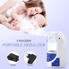 110V/220V Portable Home Health Care Atomizer Beauty Instrument Children Care Inhale Nebulizer Humidifier White EU US Plug