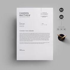 Resume/CV by Reuix Studio on Creative Market – erasmus Simple Resume Template, Cv Template, Resume Templates, Resume Cv, Resume Design, Stationery Design, Graphisches Design, Layout Design, Letterhead Design Inspiration