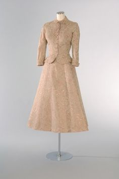 Helen Rose Designed This Refined Lace Dress For the Civil Ceremony Of Princess Grace and Prince Renier