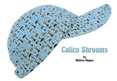 NEW Calico Shrooms Chambray Blue and Teal Polka Dot Print | Etsy Polka Dot Print, Polka Dots, Mushroom Hat, Polka Dot Background, Hook And Loop Tape, Florida Usa, Panama City, City Beach, Top Stitching
