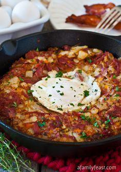 Corned Beef Breakfast Hash - A Family Feast