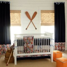 Coastal Crib Bedding | Madras Plaid Beach Themed Bedding | Carousel Designs- love this matches the high chair pad my parents ordered for Bobby!