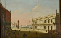 Pair of Views of Venice - Saint Mark's Square - Timothy Langston Fine Art & Antiques Pictures To Paint, Stock Pictures, Painting Pictures, Venice Painting, Picture Collection, Roman Catholic, Venice Italy, 18th Century, Fine Art