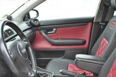 Audi A4 B6 - Türverkleidungen wurden mit Material passend beklebt #designbezuege #designbezuege nach maß #Tuning, #Stickerei, #Tuning, #Audi A6, #Audi Tuning, #Rautenmuster