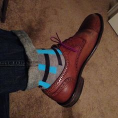 Fun socks and laces-but still conservative.