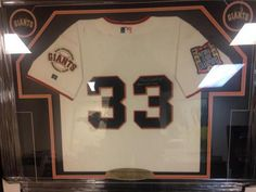 Benito Santiago Game Worn Autographed and Inscribed San Francisco Giants World Series Jersey | crazycollectors.com
