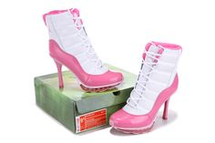 Nike High Heels Air Max 09 Boot For Women White Pink