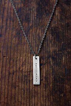 Morse Code Necklace Secret Message Necklace Men's by RusticBrand