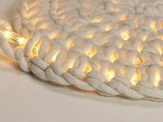 Fun DIY idea for a rug lit with rope lights. #DIY