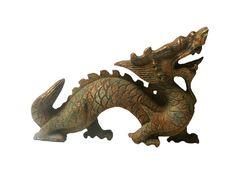 Chinese Oriental Jade Stone Carved Dragon Figure - Golden Lotus Antiques 650-522-9888 goldenlotusinc@yahoo.com