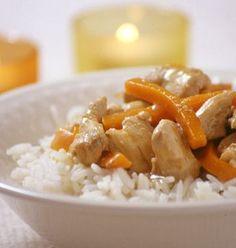 Photo de la recette : Sauté de poulet aux carottes et au gingembre