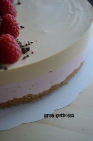Kirsin keittiössä: Mansikka-kinuskihyydykekakku (glut.) Cheesecakes, Panna Cotta, Food And Drink, Pudding, Baking, Ethnic Recipes, Desserts, Pictures, Bread Making