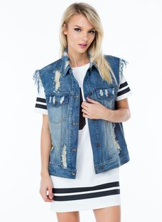 Punk Vibes Denim Vest