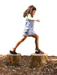 Handcrafted Redcedar Log Steps: a great addition to an #outdoor #classroom or…
