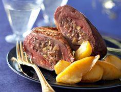 Magrets rôtis farcis au foie gras